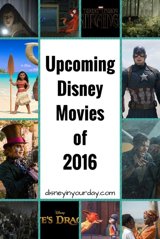 Disney has a lot of great movies coming out in 2016!  Captain America, Zootopia, Finding Dory, The Jungle Book, and more!  Which ones are you most excited for?