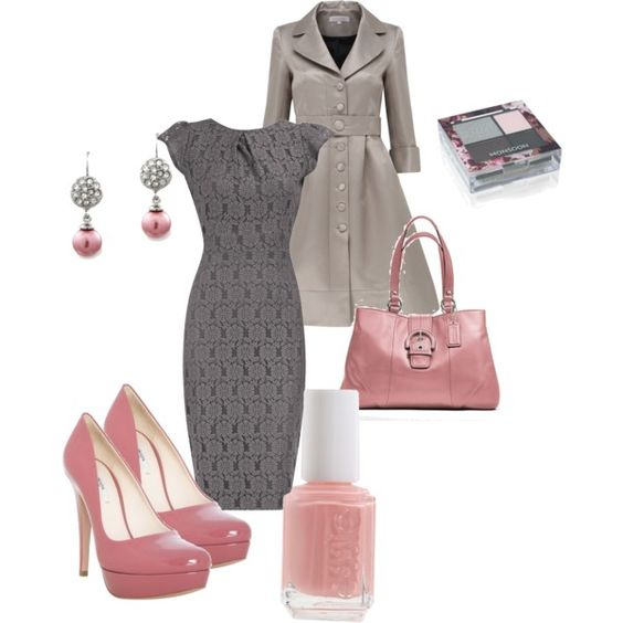 Grey and Pink: Grey Pink, Dream Closet, Pink Outfit, Pink Grey, Women, Pink And Gray, Gray Pink