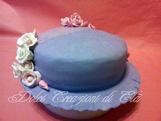 torta cappellino fiorito