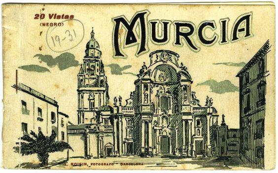 Visor Archivo General Región de Murcia. FOT_POS,06/137 / Folleto sobre Murcia que contenía 20 vistas de la ciudad.c. 1920