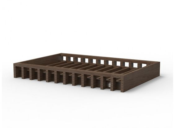 Delia Luxury Bed From Massive Oak For Your Dog
