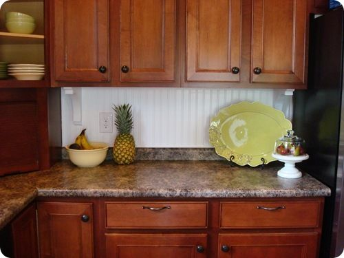 Beadboard Backsplash Probably So Much Easier Than Tile Kitchen Ideas Pinterest