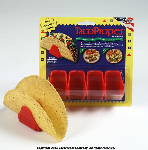 TacoProper™  taco holder 4PK-UNBROKEN tacos every time!