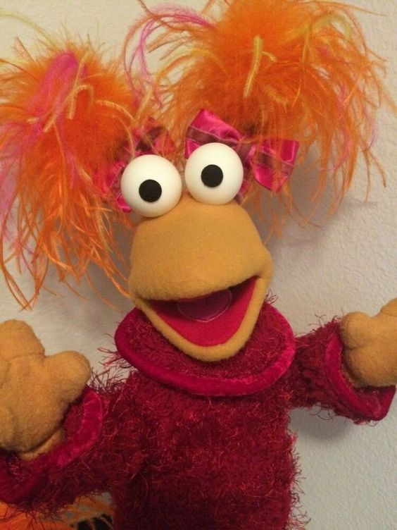 Jim Henson Fraggle Rock Muppets Master Replica Poser Doll Prop Red Fraggle