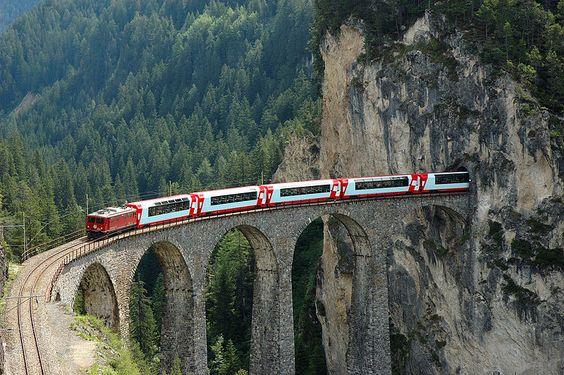 Alpine Train Rides, Switzerland (wonderful train ride)