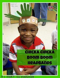 Chicka Chicka Boom Boom Headbands!