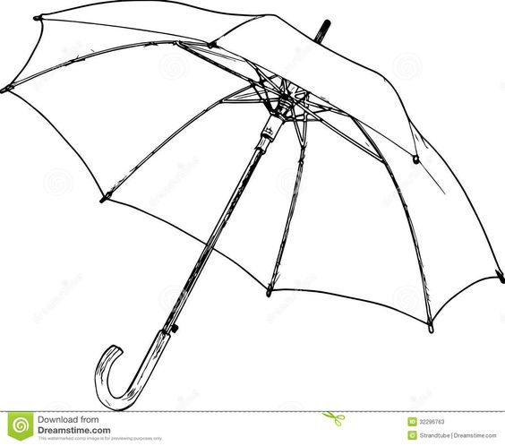 Line Drawing Umbrella : Umbrella black white sketch g zoe