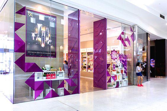 Cosme Hut Cosmetics Shop Shopfront Retail Design Purple