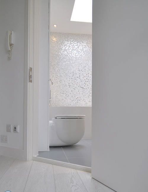 36 White Sparkle Bathroom Tiles Ideas And Pictures 2019 White Mosaic Bathroom Modern White Bathroom Tile Bathroom