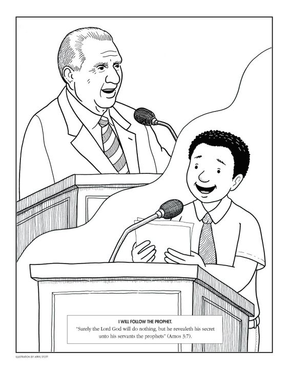 President monson the prophet and children on pinterest for Thomas s monson coloring page