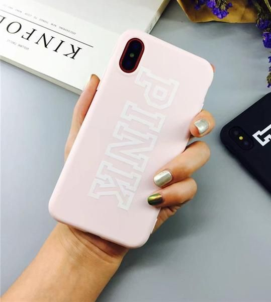 For Iphone X Case Pink Color Luxury Soft Tpu Rubber Cover For