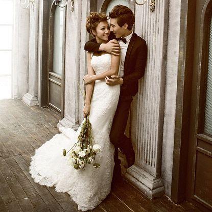 robe de mariée dos nu de sirène en dentelle royale 9606