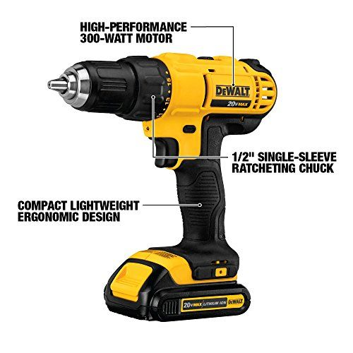 Dewalt Dck240c2 20v Lithium Drill Driver Impact Combo Kit 1 3ah Useful Tools Store Combo Kit Drill Drill Driver