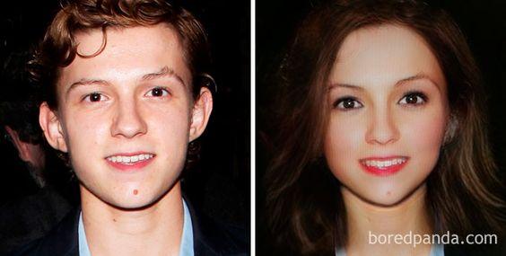 Gender-Swapped Snapchat Filter Tom Holland
