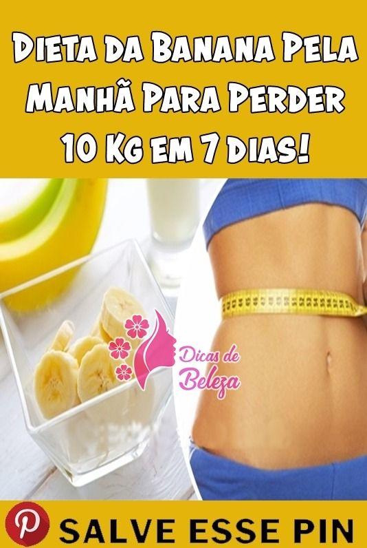 dieta da banana matinal como perder 10kg