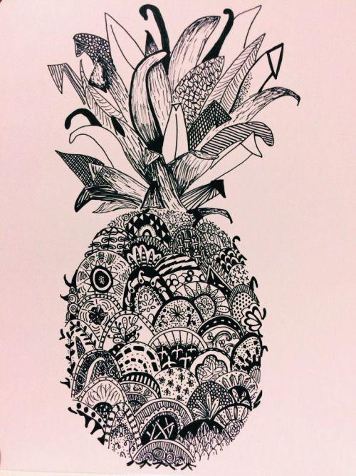 B&W pineapple -Renee