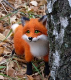 *NEEDLE FELTED ART ~ MADE TO ORDER Handmade Felt doll   Figurines Sculpture  Needle felted animal Handmade animal Needle felted Red Fox   by SvetlanaToys on Etsy https://www.etsy.com/listing/227057259/needle-felted-wool-made-to-order