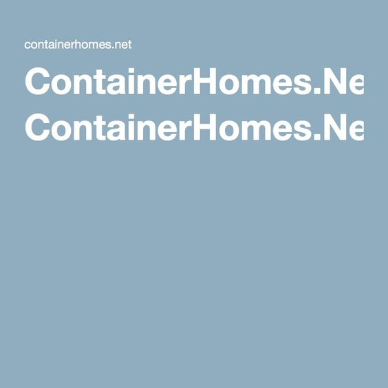 ContainerHomes.Net