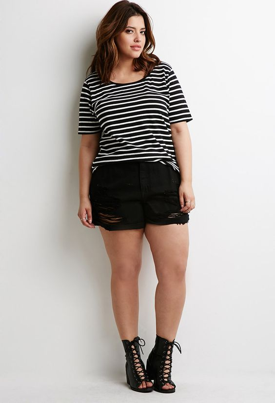 Striped Crew Neck Tee - Tops - 2002247350 - Forever 21 UK