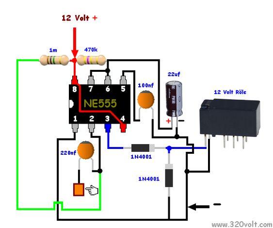 Zaman Ayarli Dokunmatik Anahtar Elektronik Devre Electronics Projects Elektronik