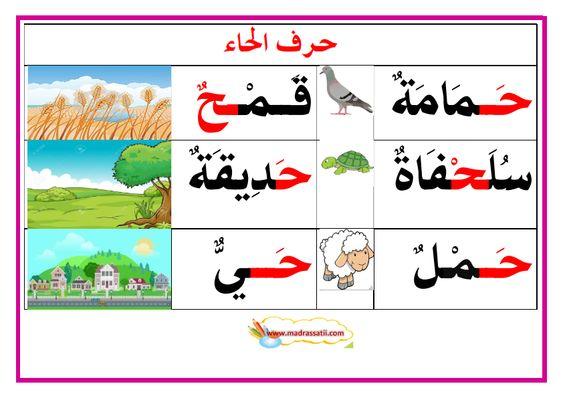 معلقات حروف و كلمات 2 موقع مدرستي Arabic Kids Arabic Alphabet Letters Arabic Alphabet