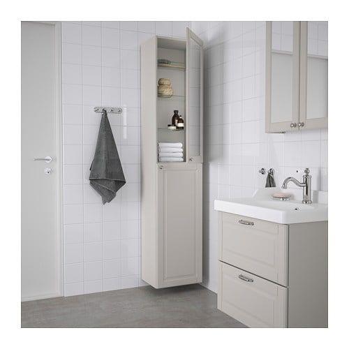 Ikea Godmorgon Kasjon Light Gray High Cabinet Nel 2020 Bagno