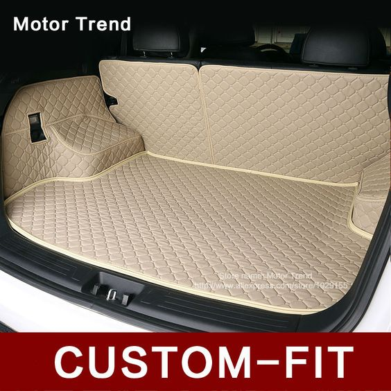 Custom fit car trunk mat for Camry RAV4 Accord Corolla Altima CRV Civic Fusion Focus Explorer 3D car styling cargo liner