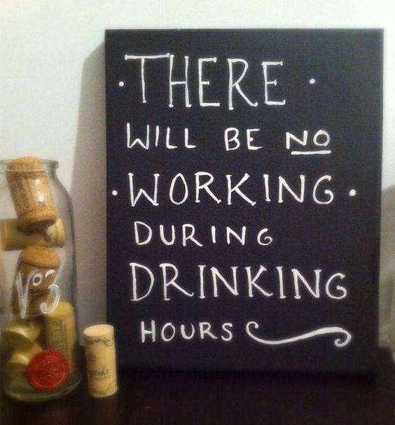 FREE FATHERS DAY Gift No Working During Drinking Hours by AnnaVArt, $6.00