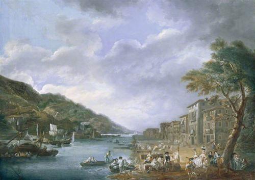 The Quay, Olaveaga, Bilbao - Luis Paret y Alcazar
