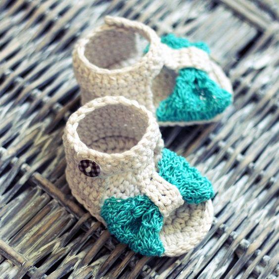 Crochet sandals: