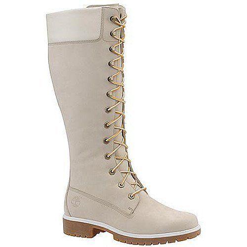Women Timberland High Heel Boots (White)