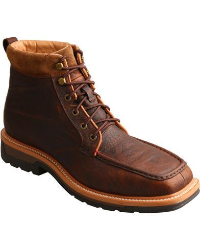 Twisted X Men S Light Work Lacer Waterproof Work Boots Soft Toe Twisted X Boots Dark Brown Leather Boots Brown Work Boots