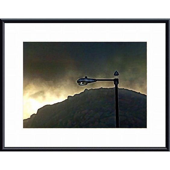 John K. Nakata 'Bird, Lamp and Morro Rock' Framed Art Print