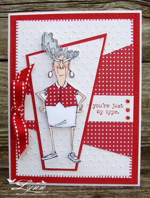 Art Impressions stamp - Humorous - I like the design of this card.