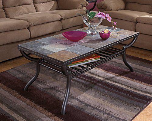 Ashley Furniture Signature Design Antigo Coffee Table Slate Top Coffee Table Slate Coffee Table Coffee Table