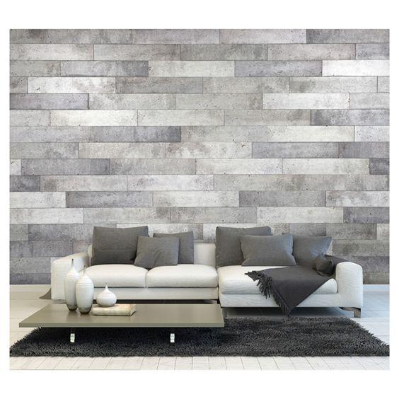Panneau mural à effet de béton  RONA  TENDANCES  Pinterest  Murals -> Panneau Tv Mural