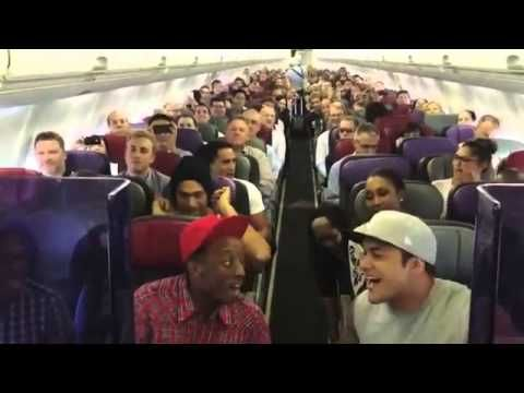 Why can't any of my flights be this entertaining? Cast of Lion King sings.