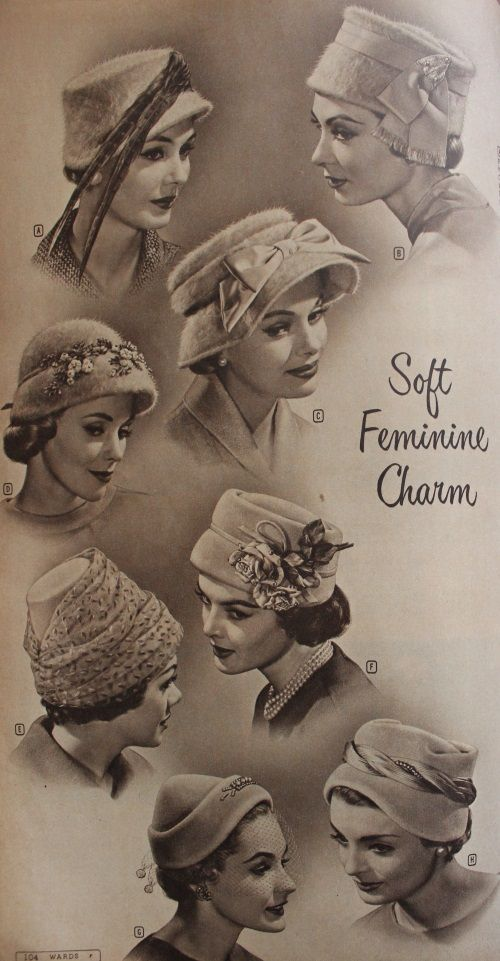 1950s Womens Hats By Style Vintage Outfits Hats Vintage Hats For Women