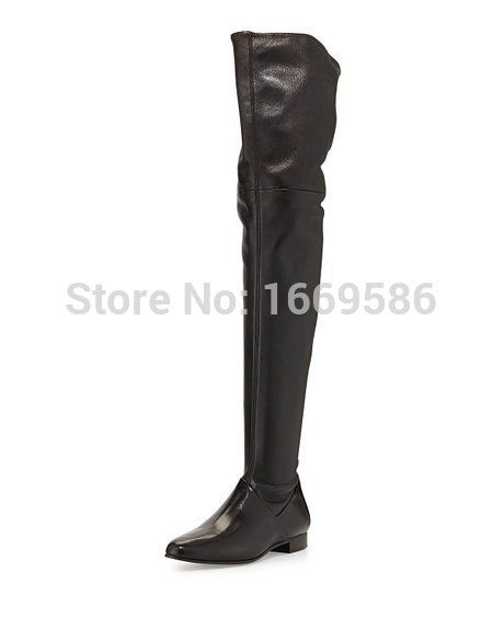 Shoesofdream Ladies Women's Sqaure Warm Winter Over The Knee High Knight Boots Handmade For Wedding Party Dress Shoes
