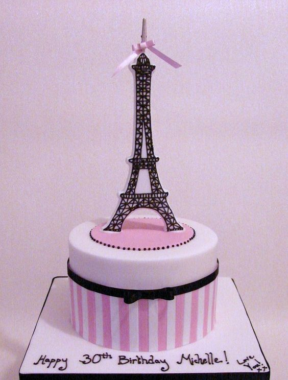 eiffel tower cake decorations - Google Search