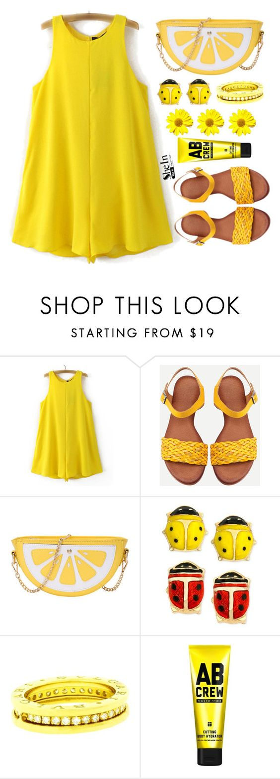 """""""Shein"""" by simona-altobelli ❤ liked on Polyvore featuring Bulgari and AB Crew"""