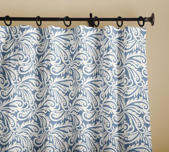 Wynnfield Paisley Print Curtain Printed Curtains Paisley Print