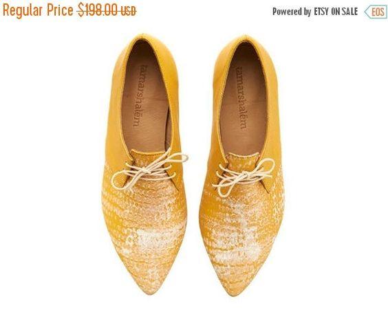 WINTER SALE neu Lara-Schuhe gelber Mais handgemacht von TamarShalem
