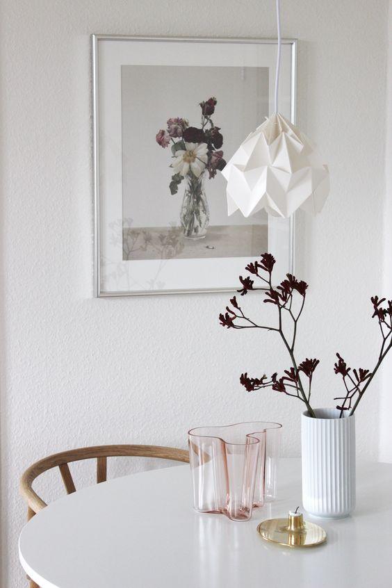 scandinavian interior design, scandinavian dining spot, casper sejrsen, lyngby vase, via http://www.scandinavianlovesong.com/