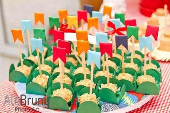 Ideias de Docinhos Decorativos para Festa Junina. Tem alguns modelos que servem para decorar a sua mesa de doces  e para dar como lembrancinha para os seus convidados.| DICA DRICA TURCA DELUXE BRANDS: