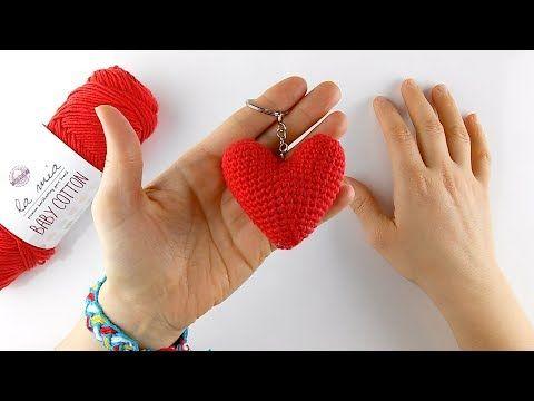Amigurumi Tig Isi Kalp Anahtarlik Yapimi Crochet Heart Keychain Youtube Tig Isleri Amigurumi Anahtarlik