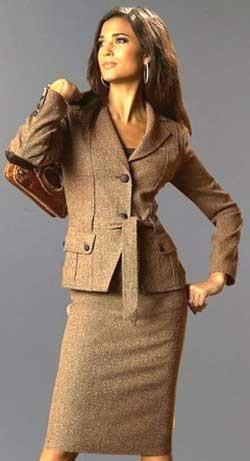 Женские деловые костюмы и платья с выкройками