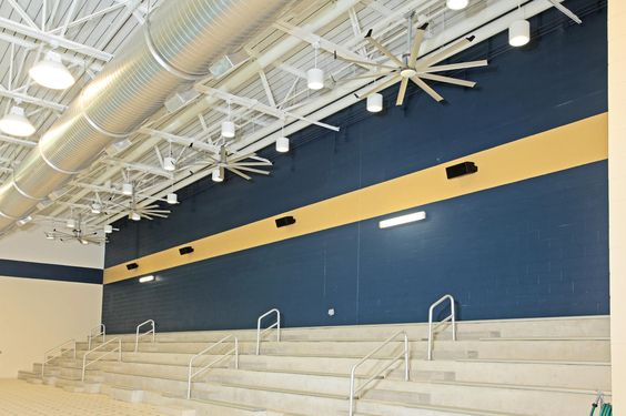Indoor swimming pools can be notoriously uncomfortable, and Maine Endwell High School's non-air conditioned aquatic center was no different. Four Big Ass Fans provide a welcome reprieve from the heat and help the facility save thousands in utility costs.