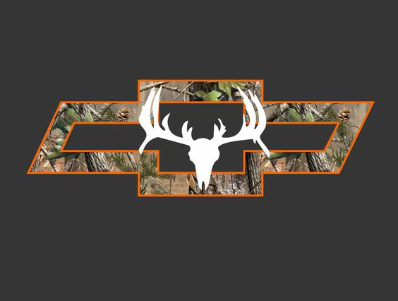 Chevy Truck Camo Bowtie With Deer Vehicle Window DecalSticker - Chevy bowtie rear window decal