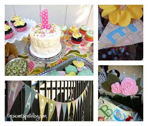 Shabby Chic First Birthday - #partydecor: Blog Thesweetspotblog, Birthday Vintage, First Birthday Parties, Vintage Cake, Chic Birthday, Shabby Chic, Birthday Idea, Birthday Partydecor